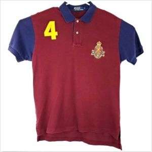 Polo Ralph Lauren #4 Mens Large Rugby Polo Shirt